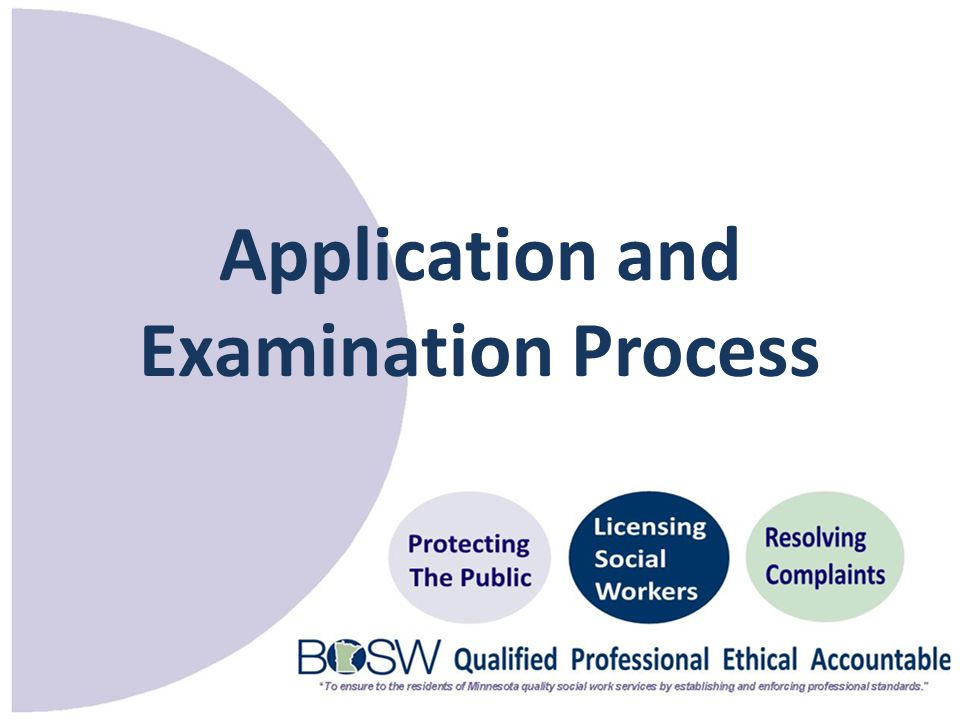 Application and Examination Process