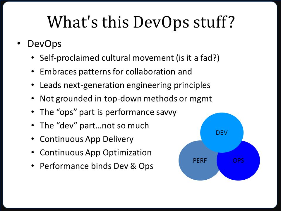 What s this DevOps stuff.
