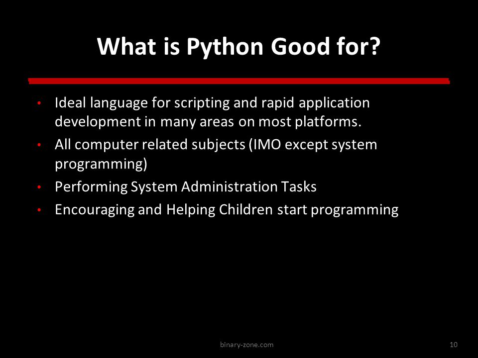 binary-zone.com10 What is Python Good for.