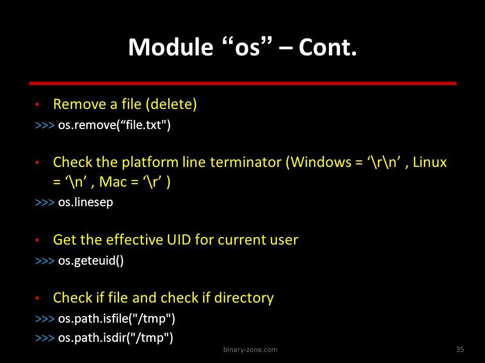 binary-zone.com35 Module os – Cont.