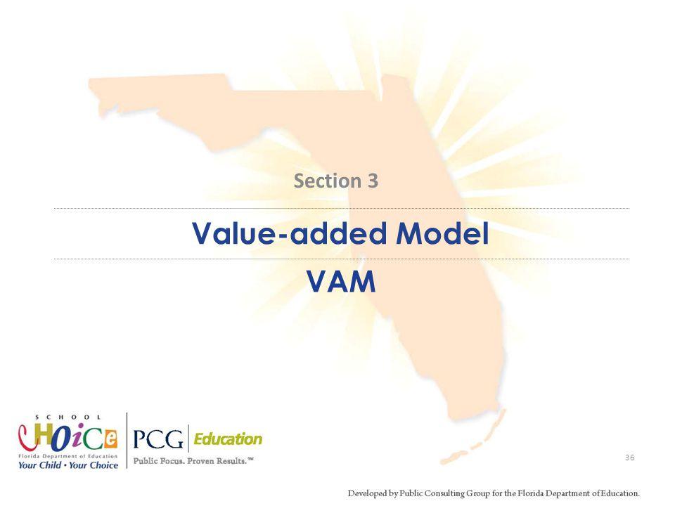Value-added Model VAM 36 Section 3
