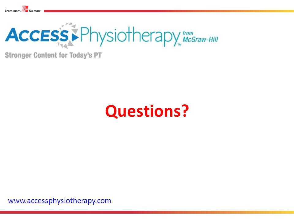 Questions www.accessphysiotherapy.com