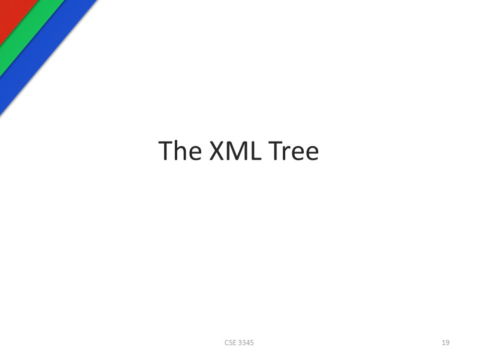 The XML Tree CSE 334519