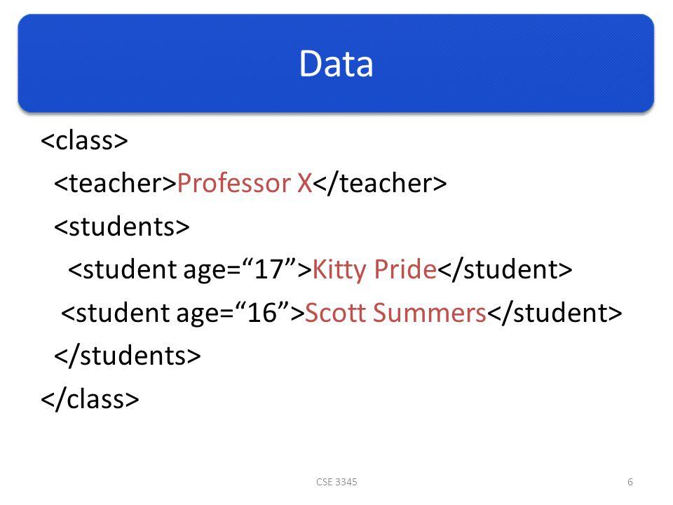 Data Professor X Kitty Pride Scott Summers CSE 33456