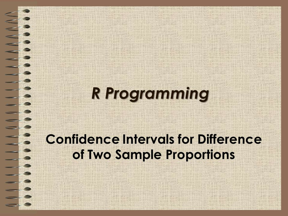 R Programming Confidence Intervals for Difference of Two Sample Proportions