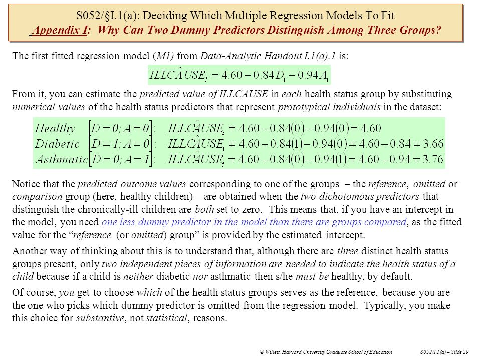 S052/§I.1(a): Deciding Which Multiple Regression Models To Fit Using Clickers In Future S-052 Classes Should We Use Clickers in Future S-052 Classes.