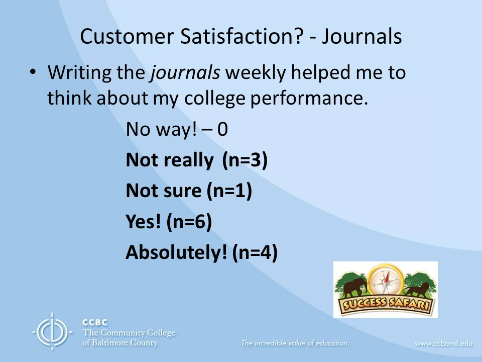 Customer Satisfaction.