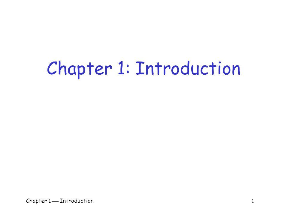 Chapter 1  Introduction 1 Chapter 1: Introduction