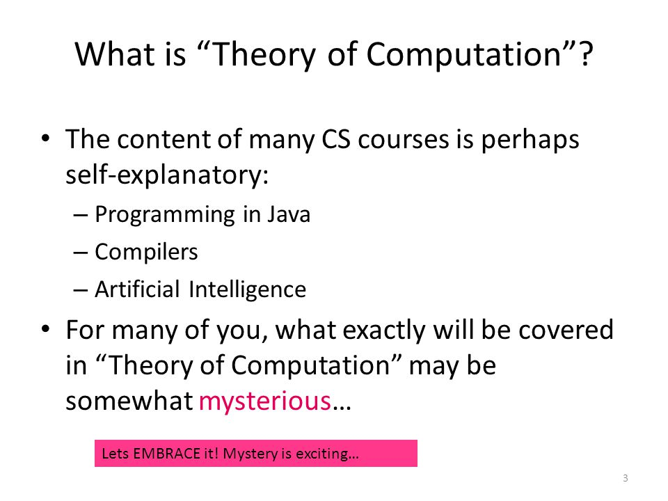 What is Theory of Computation .