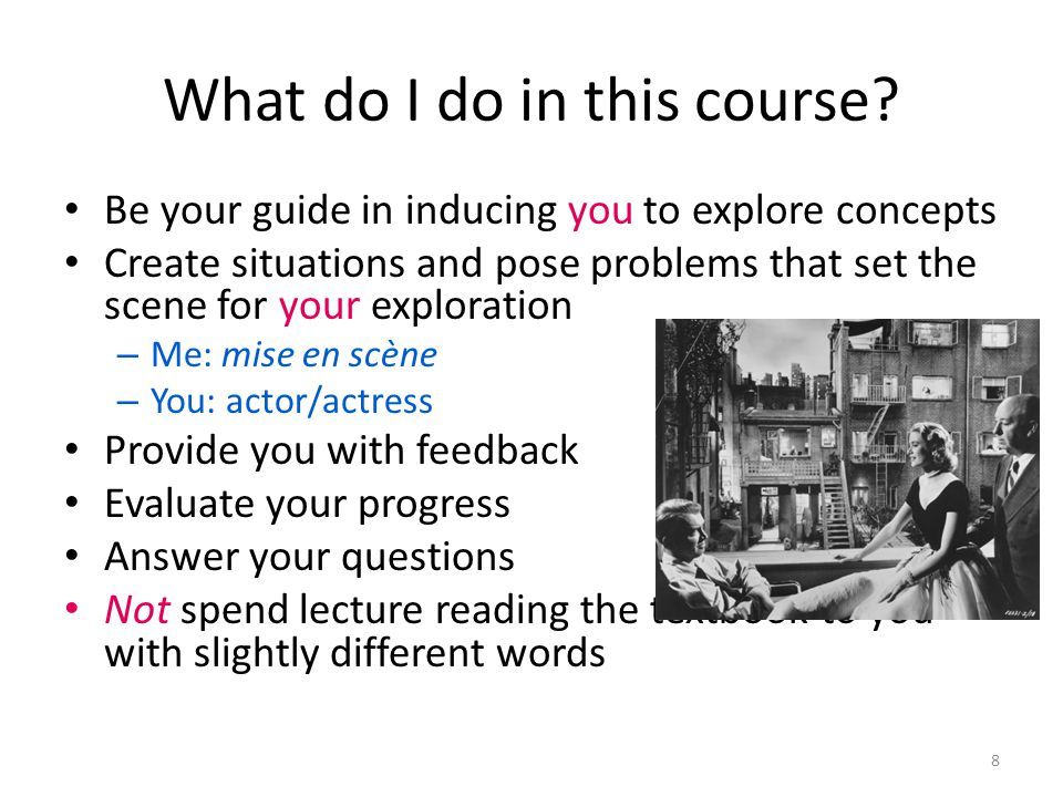 What do I do in this course.