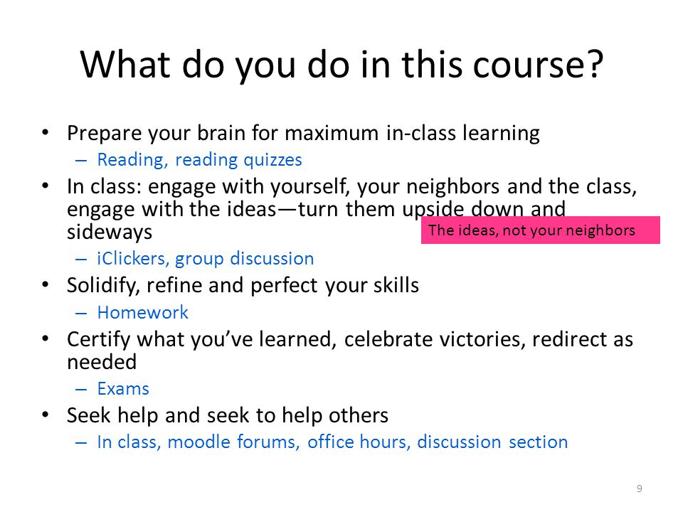 What do you do in this course.
