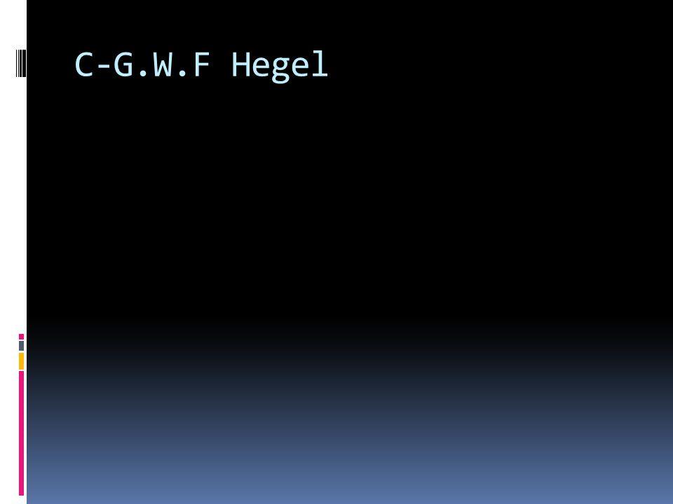 C-G.W.F Hegel