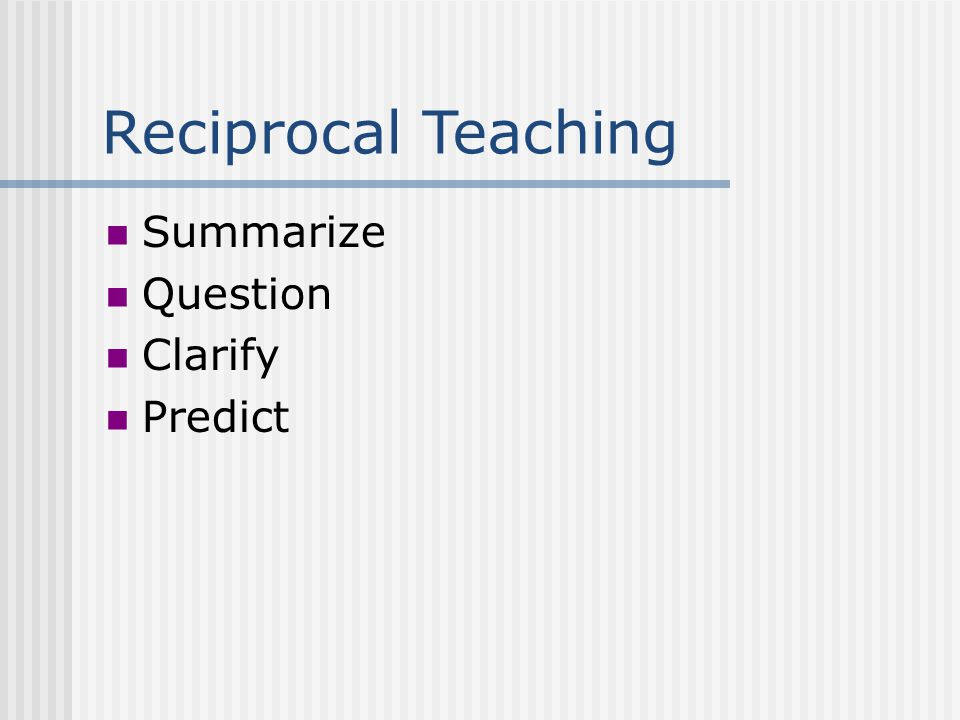 Strategic Teaching Reciprocal Teaching Direct Instruction Adaptation Analysis