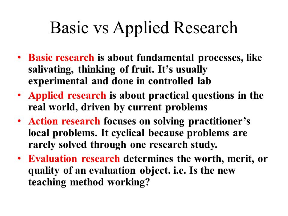 Action Research – solving local problems Brainstorm… – What local problems could be researched.
