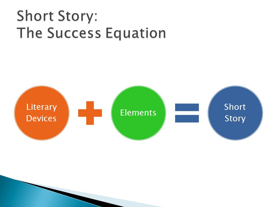 Literary Devices Elements Short Story