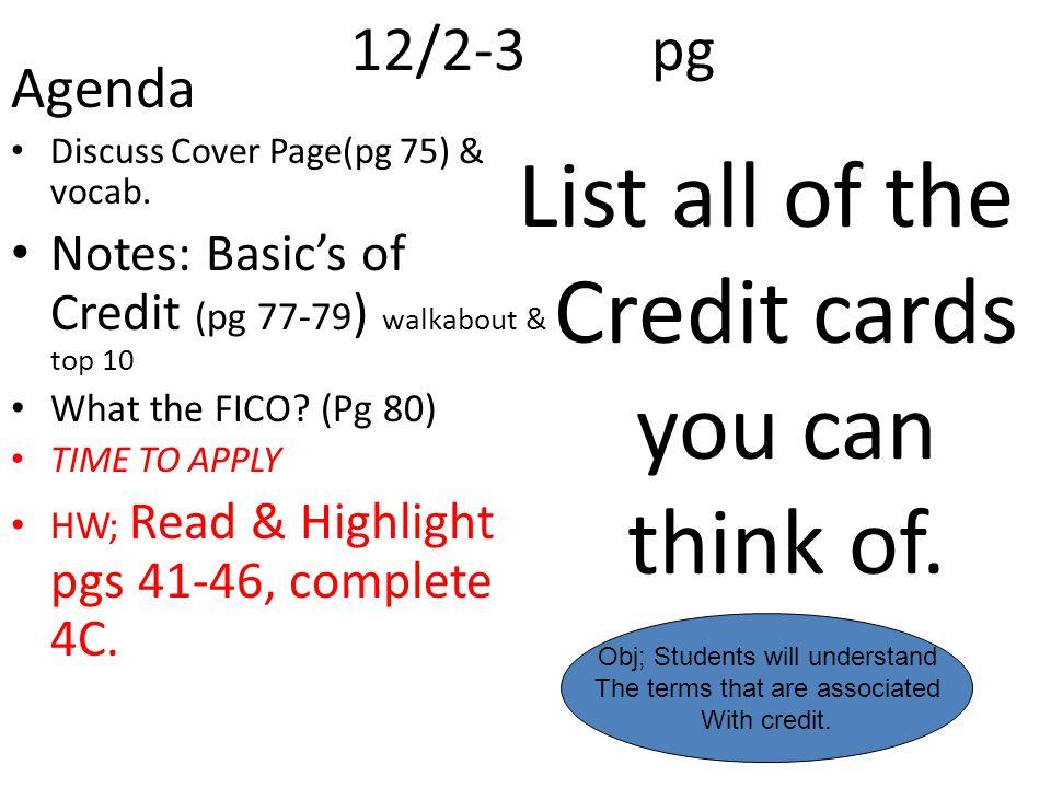 12/2-3pg Agenda Discuss Cover Page(pg 75) & vocab.