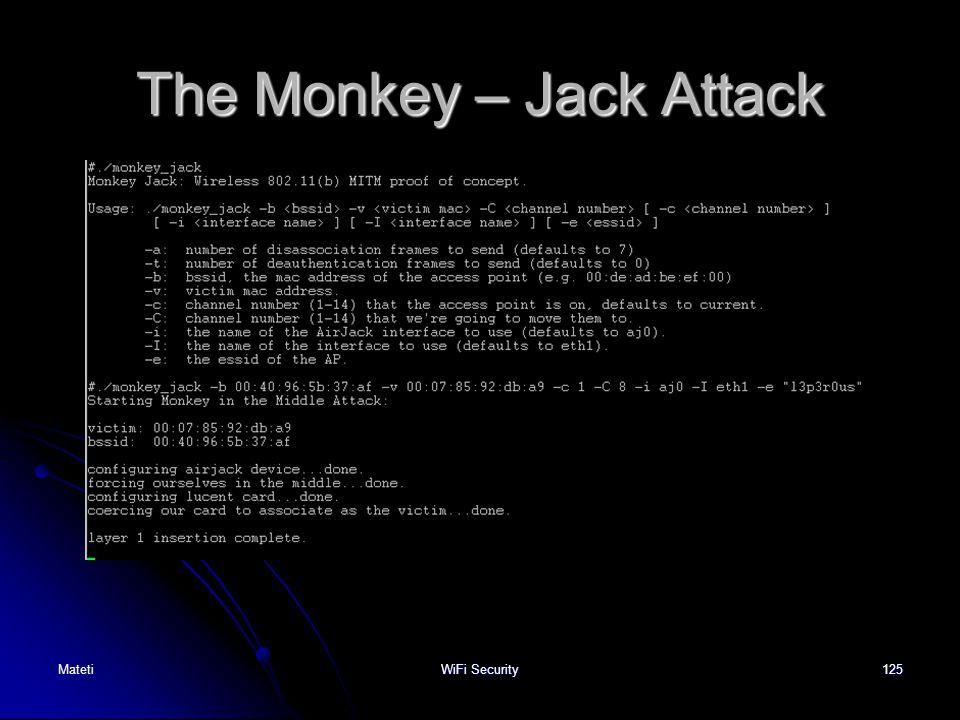 125 The Monkey – Jack Attack MatetiWiFi Security