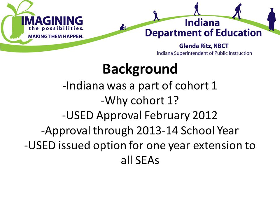 Background -Indiana was a part of cohort 1 -Why cohort 1.