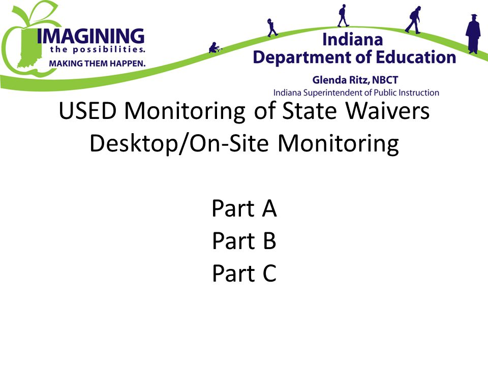 USED Monitoring of State Waivers Desktop/On-Site Monitoring Part A Part B Part C