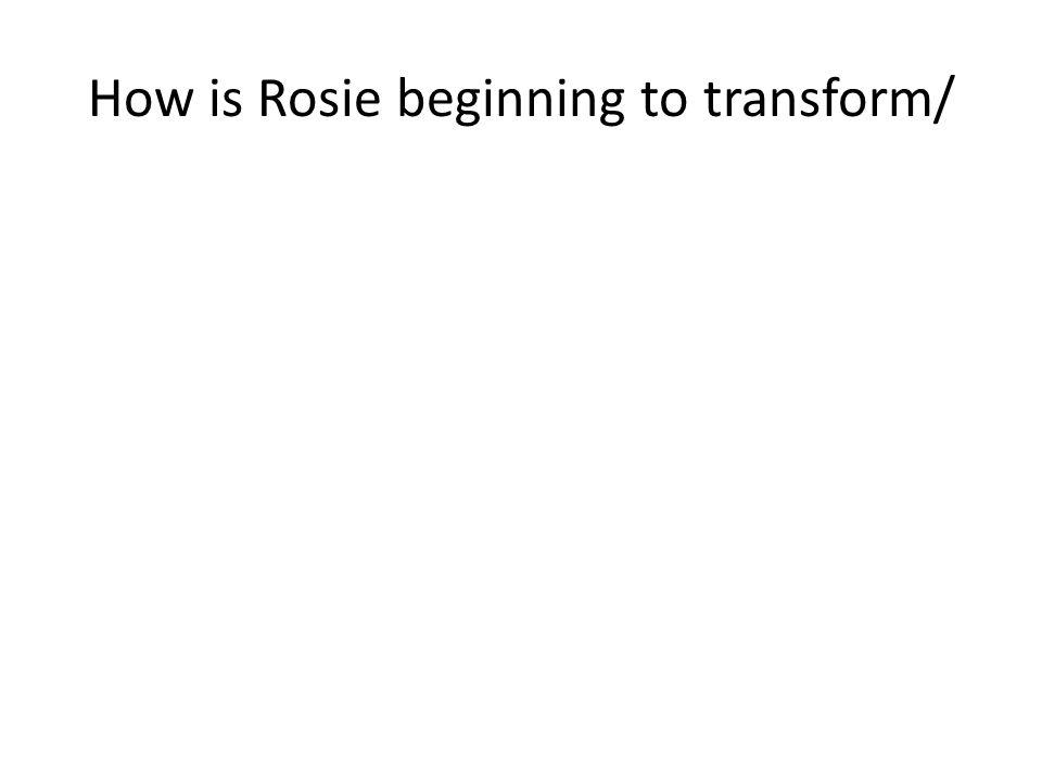 How is Rosie beginning to transform/