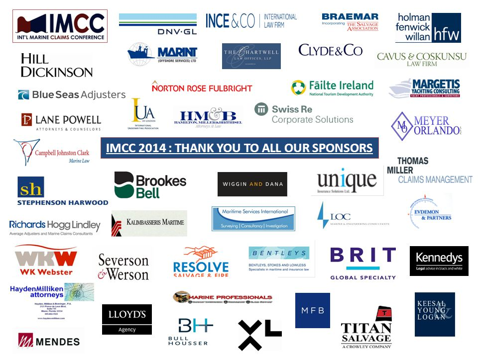 IMCC 2014 : THANK YOU TO ALL OUR SPONSORS