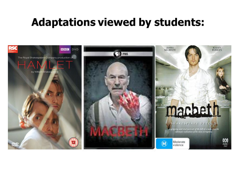 Adaptations viewed by students: