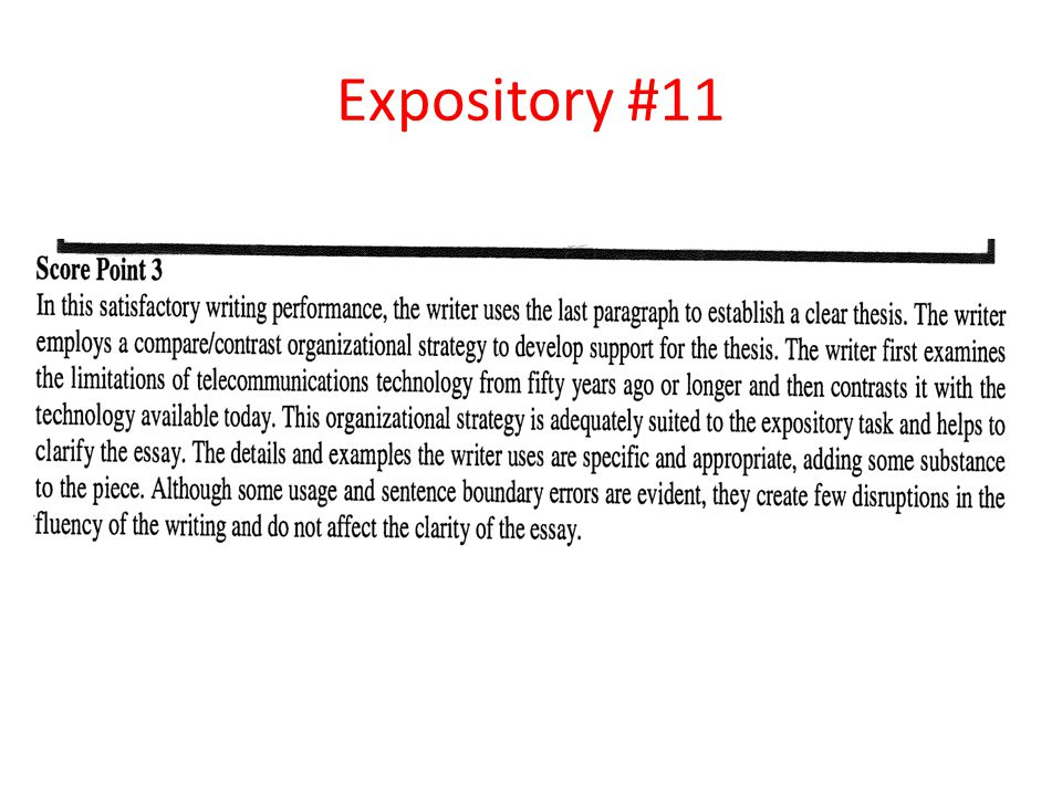 Expository #11