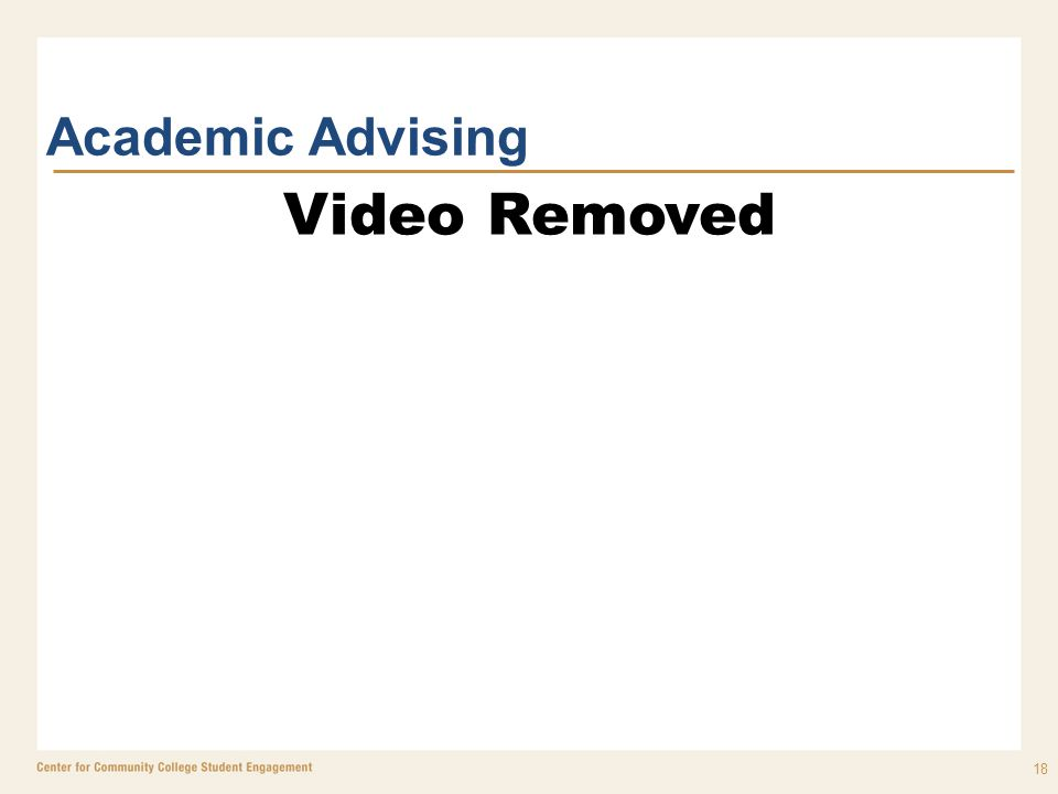 18 Academic Advising Video Removed