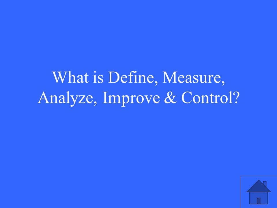 What is Define, Measure, Analyze, Improve & Control?