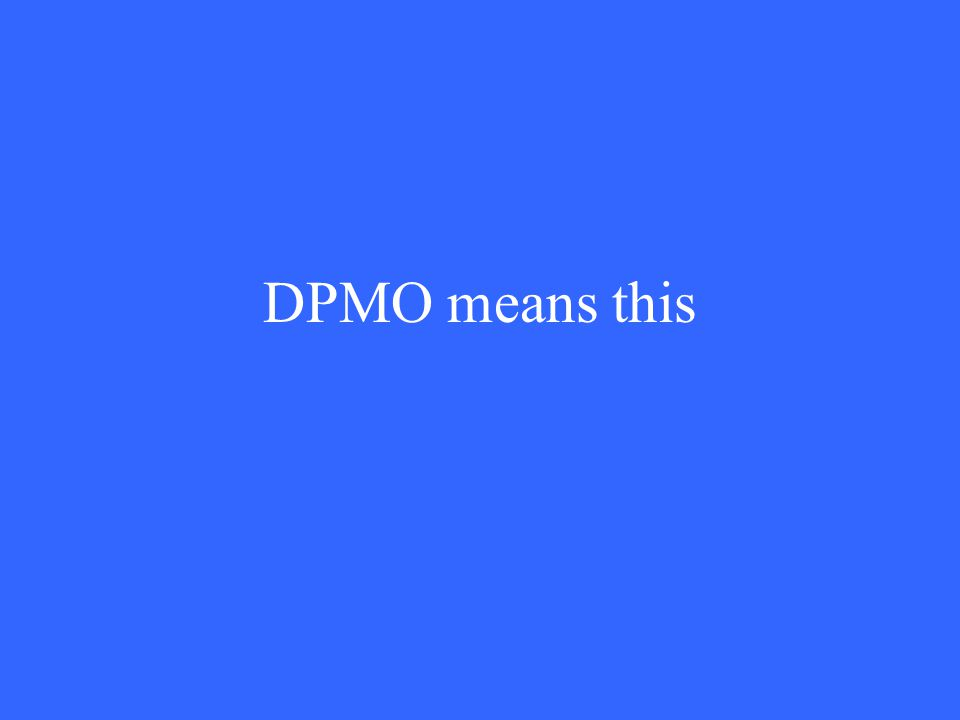 DPMO means this