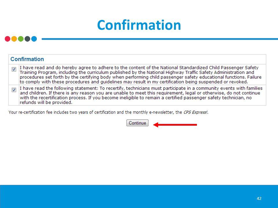 Confirmation 42