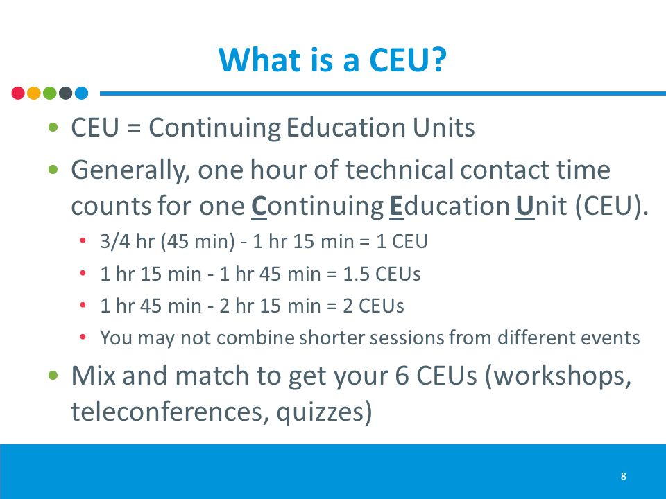 What is a CEU.