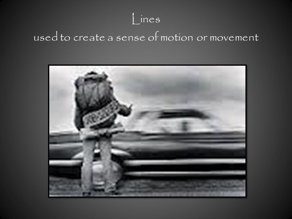 Lines used to create a sense of motion or movement