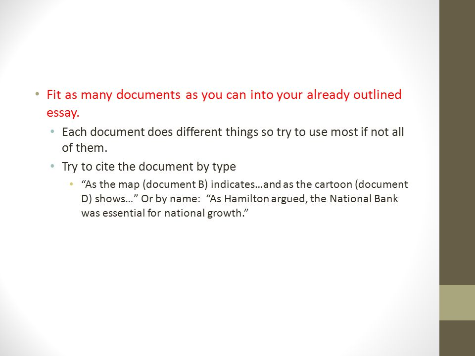 5.Documents Analyze all documents Look at title, date & author Why are they significant.