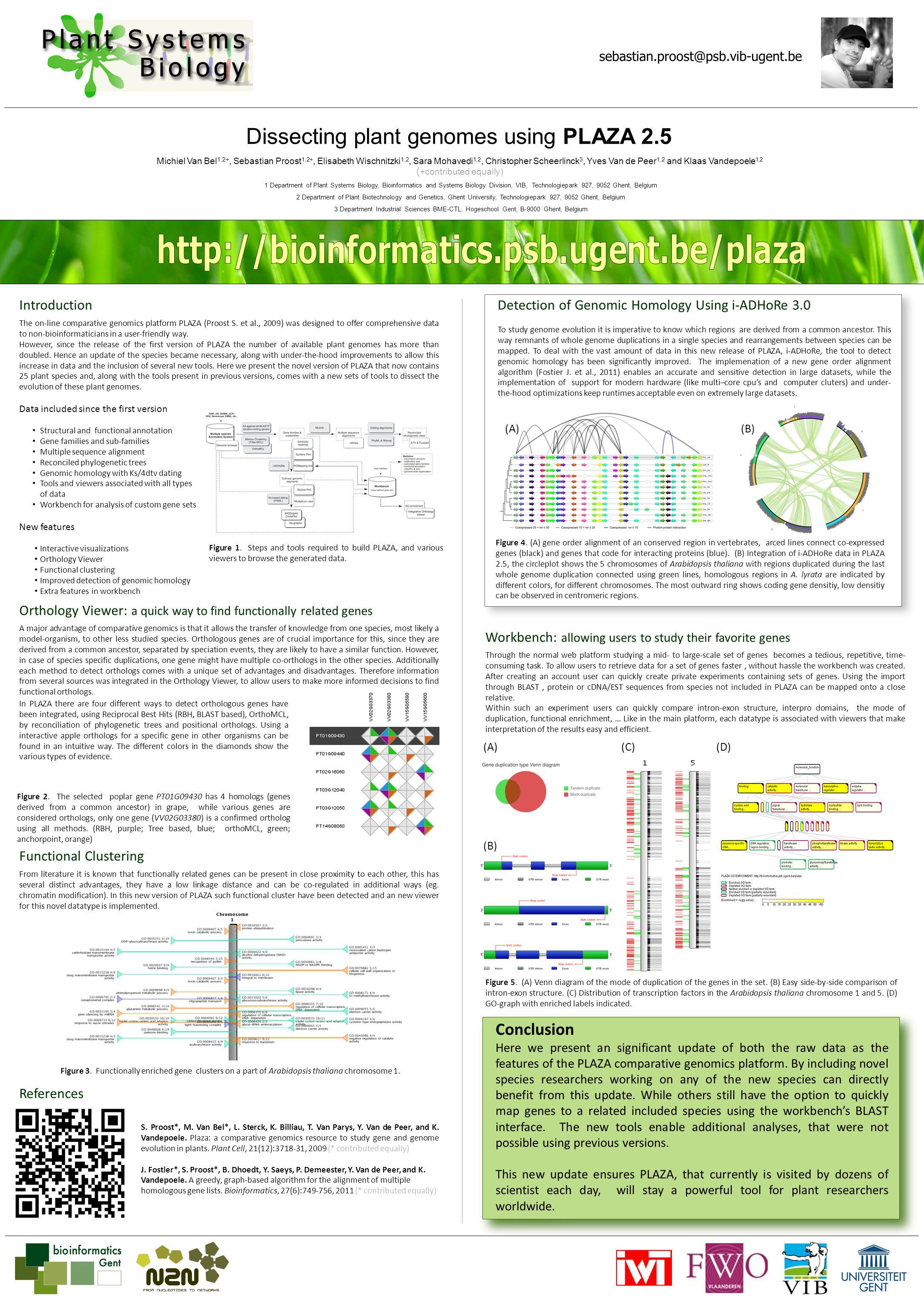 Dissecting plant genomes using PLAZA 2.5 Michiel Van Bel 1,2+, Sebastian Proost 1,2+, Elisabeth Wischnitzki 1,2, Sara Mohavedi 1,2, Christopher Scheer