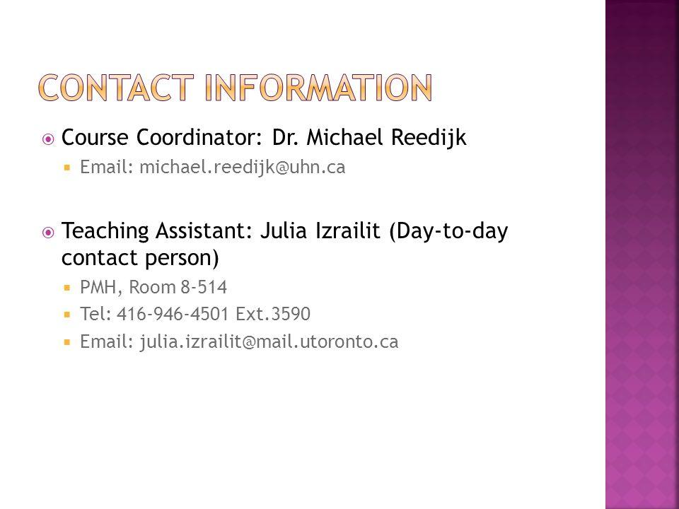  Course Coordinator: Dr.