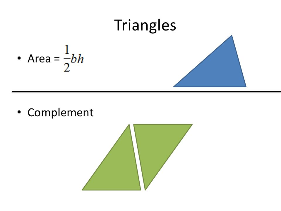 Triangles Area = Complement