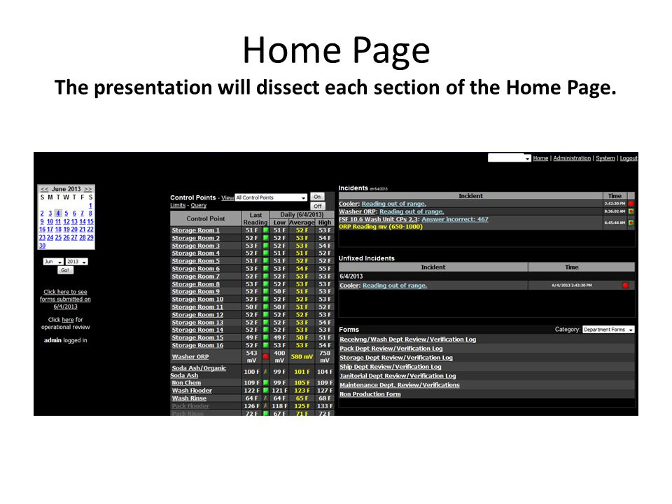 Home Page The presentation will dissect each section of the Home Page.