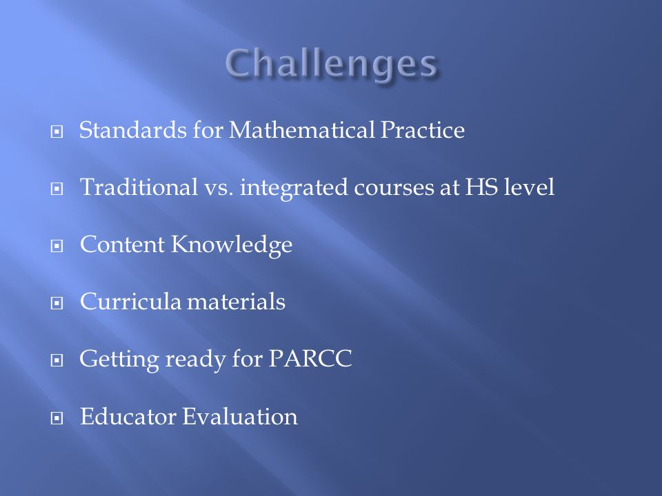  Standards for Mathematical Practice  Traditional vs.