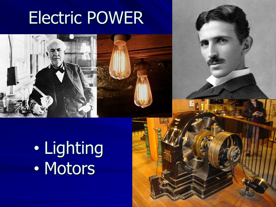 Electric POWER Lighting Lighting Motors Motors