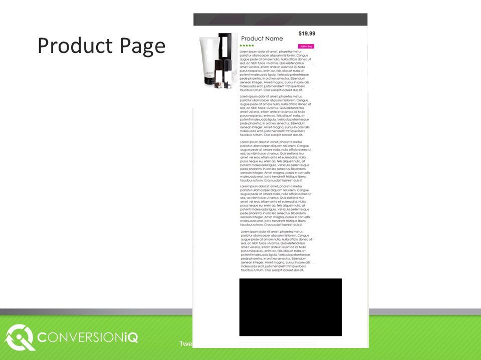 Product Page Tweet @hidanielg on twitter use #CRO