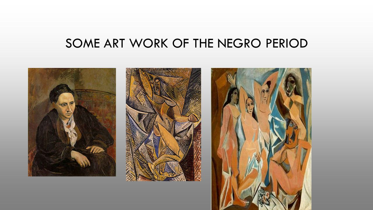 SOME ART WORK OF THE NEGRO PERIOD