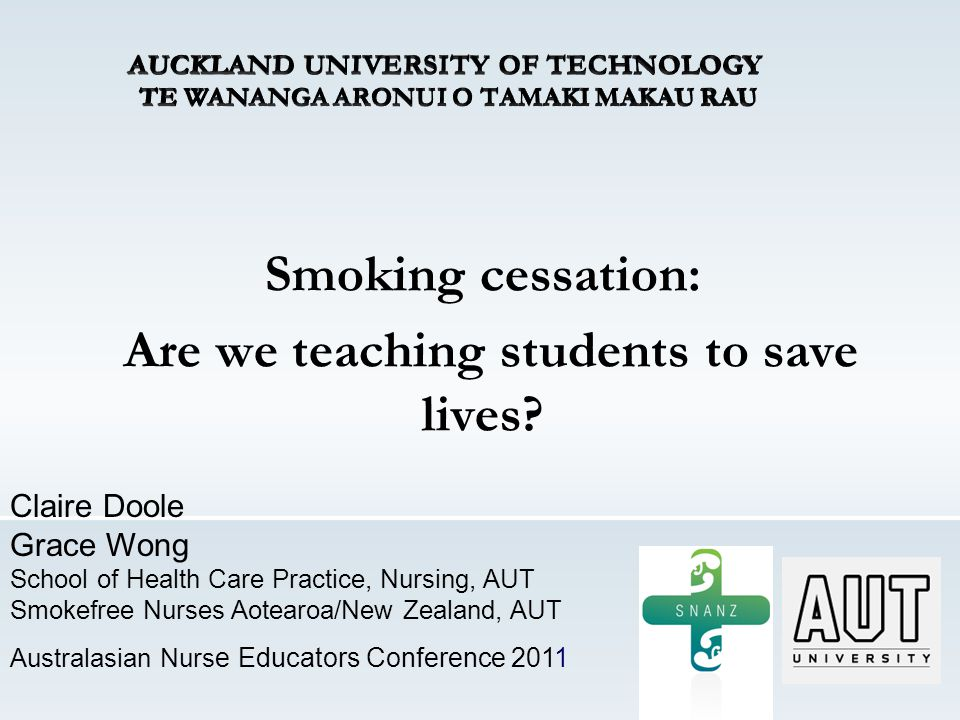 Smoking cessation: Are we teaching students to save lives.