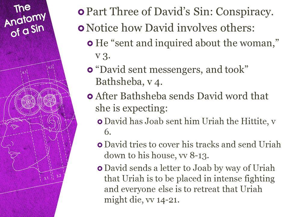  Part Three of David's Sin: Conspiracy.