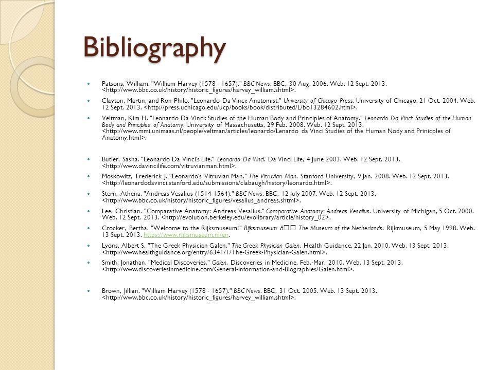 Bibliography Patsons, William.
