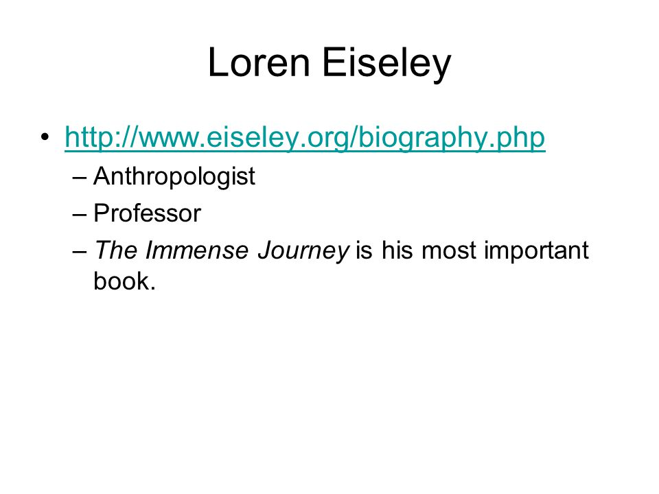 Next Question: Options.What other point of view is there in Eiseley's chapter.