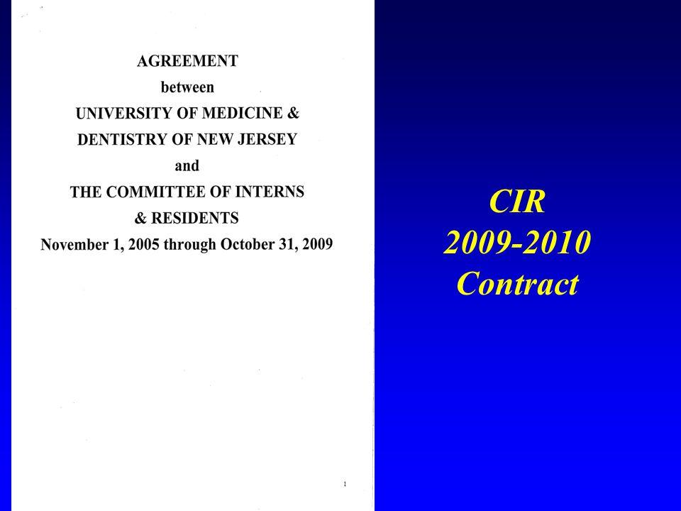 CIR 2009-2010 Contract