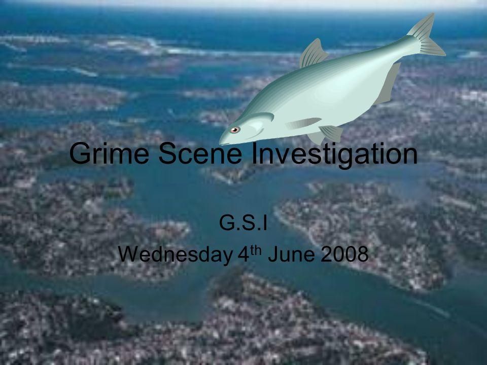 Grime Scene Investigation G.S.I Wednesday 4 th June 2008