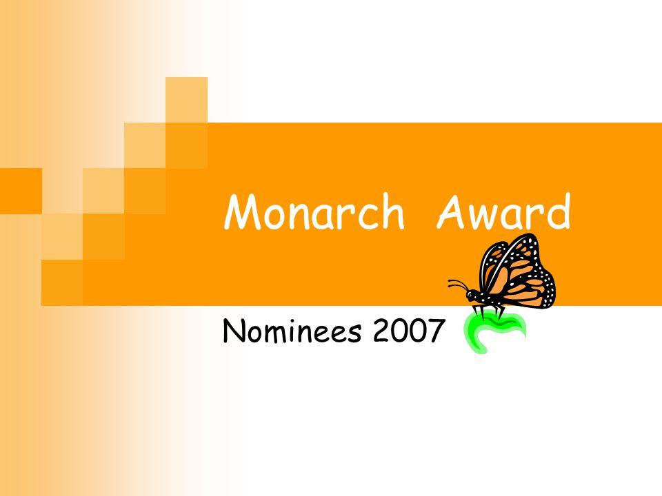 Monarch Award Nominees 2007
