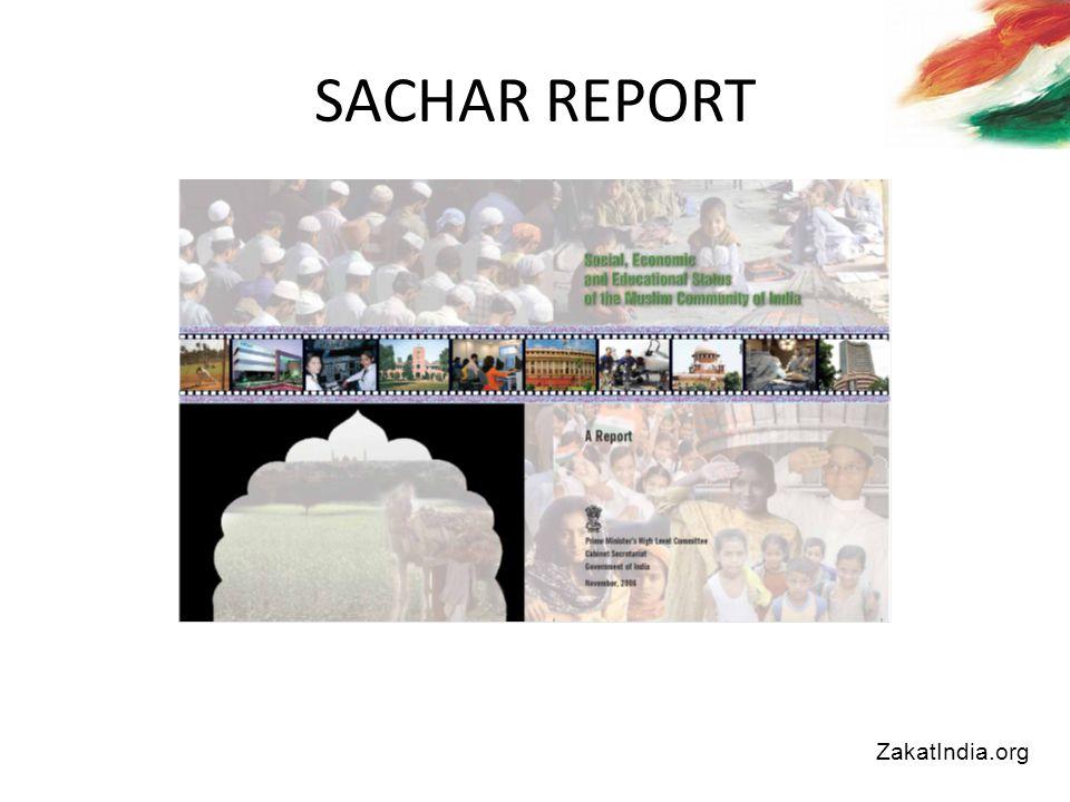 SACHAR REPORT ZakatIndia.org